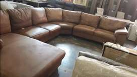 Coricraft Breen corner leather couch