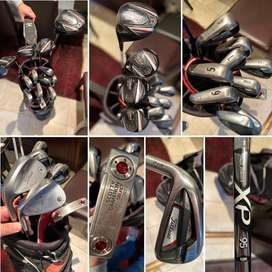 Titleist: Full set of left handed golf clubs