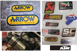 KTM Arrow aluminium exhaust silencer badge decal emblem