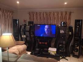 "Sony Home Theatre  set with 55"" Samsung Tv and Stand Set Up"