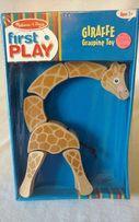 Деревянная игрушка головоломка Жираф Melissa & Doug
