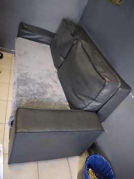 Sleeper couch, kitchen cupboards,clothing, cupboards