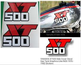 1976 - 82 Yamaha XT 500 tank / side cover decals stickers