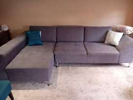 Grey L-shape couch