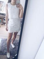Biała koronkowa sukienka S/36