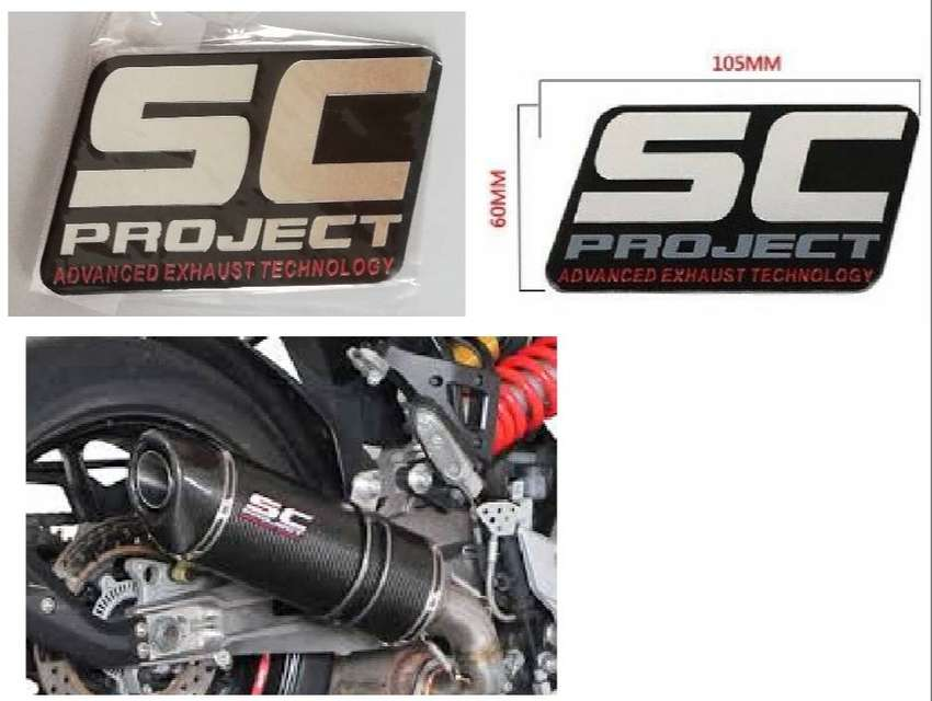 SC Projects exhaust badge decal - aluminium heat proof 0