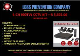 4 - 16CH CCTV KITS WITH HHD
