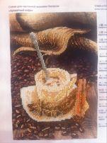 Картина вышита бисером, ручная работа
