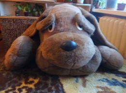 Огромная мягкая игрушка собака коричневая