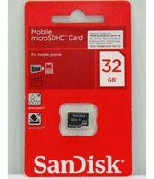 Карта памяти micro SD Объем 32GB