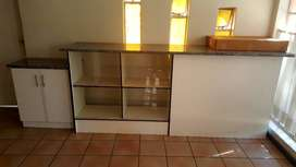 1 PieceTable Counter and grocery cupboard