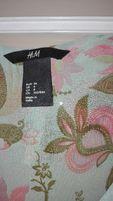 H&M bluzka w kwiaty falbany 36