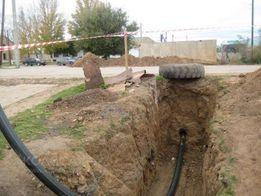 Выполним прокол грунта под дорогой