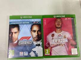 Xbox one games: Fifa 20 and F1