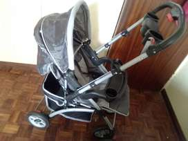 Little One Reversible Stroller, Black & Grey