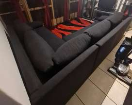 Corner set that can change into a double bed sleeper couchfor sale