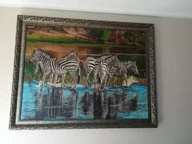 Zebras painting by TK