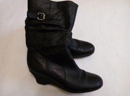 Фирменные утепленные кожаные деми сапоги Matalan р.39 стелька 25см
