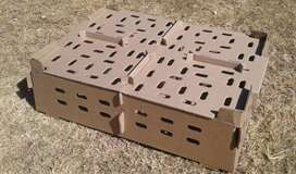Day old chick transport boxes for broiler and layer chicks. Hatching