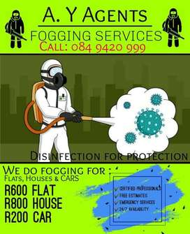 Fogging and disinfecting service