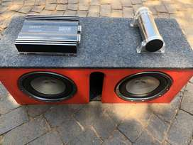 Two 10inch subs one amp one farad