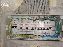 Электрик. Монтаж, ремонт, замена электро проводки . Двух тарифный учет
