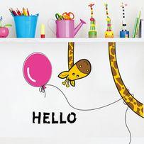 """Наклейка детская """"Озорной Жираф и розовый шар"""" Декор"""