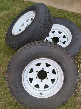 15 inch steel trailer rims with tyres