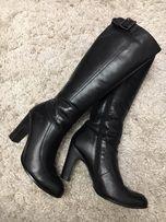 Сапоги женские кожаные, обувь женская, сапоги зимние.