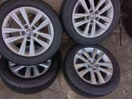 New set of mags and tyres for vw polo Tsi now available