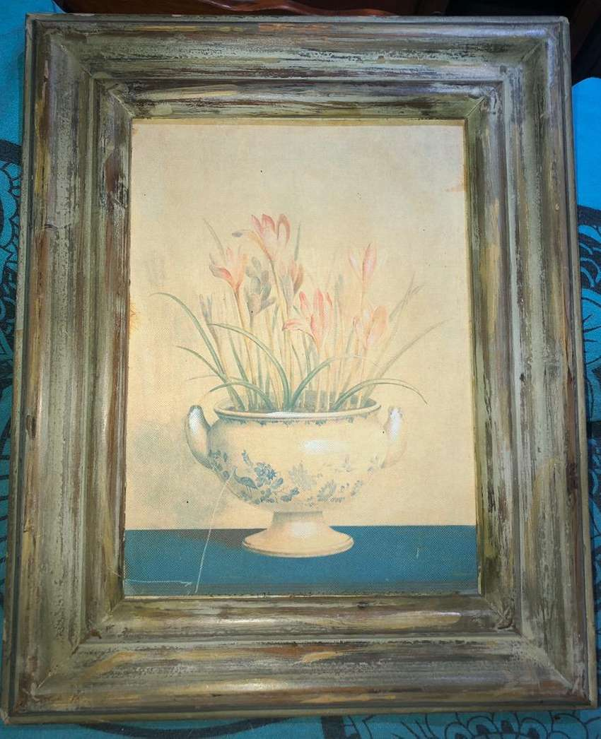 Floral Picture in Wooden Frame 0