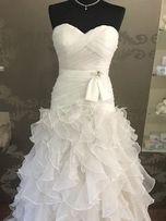 Suknia ślubna Verise Kiki r.38 falbany boho księżniczka wesele