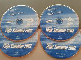 """Flight Simulator 2002"" - dzisiaj już bez mała antyk (komplet-4 CD)."