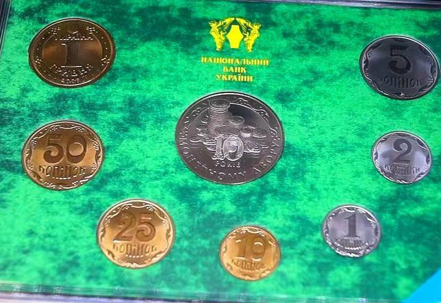 Годовой набор монет украины 2008 года, 7 монет +1 жетон, тираж 5000шт.