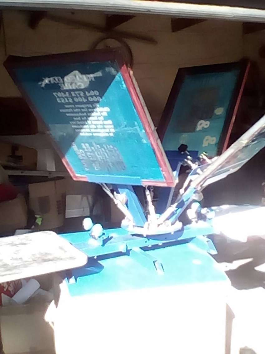 Screen Printing Machine Four Colours Two Stations 0