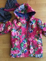 Куртка утепленная на флисе на девочку 110