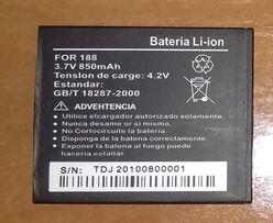 Аккумулятор FOR 188 850mAh GB/T 18287-2000