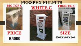 Beautiful Frosted White Pulpits