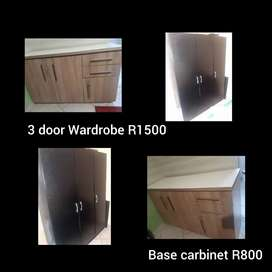 Wardrobe and base carbinet for sale