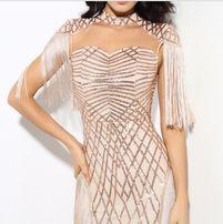 Вечернее коктейльное платье модель Gold 2018 модное нарядное выпускное