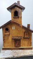 Budka domek drewniany dla ptaków