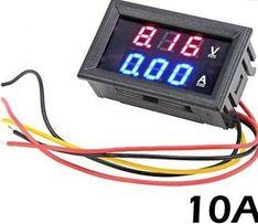 Цифровой вольтметр амперметр DC 0-100в 10a .