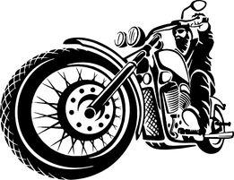 N326-naklejka motocyklista