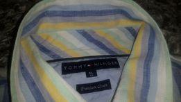 Koszula męska XL krótki rękaw Tommy Hilfiger premium linen