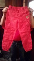 Spodnie Lc Waikiki letnie, dziewczęce, czerwone