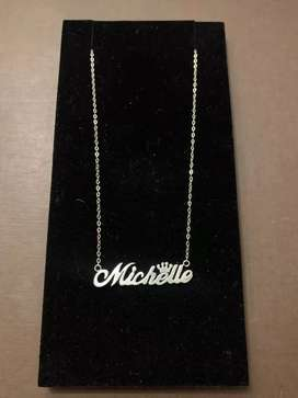 925 sterling silver Michelle name necklace