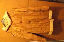 płaszczyk damski skórzany z kożuszkiem