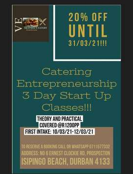 Catering Business Start Up classes.