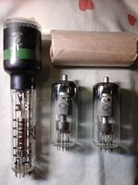 14 радиоламп ГП-5 и осцилографическая трубка. Лампы - СССР, новые.