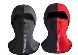 Балаклава ROCKBROS LF7150 до -10! зимний флис баф лыжная маска капюшон